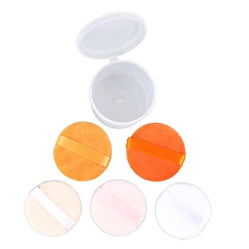 yotijar 5 Piezas de Maquillaje en Polvo de Algodón con Soplo en Rubor en Rubor