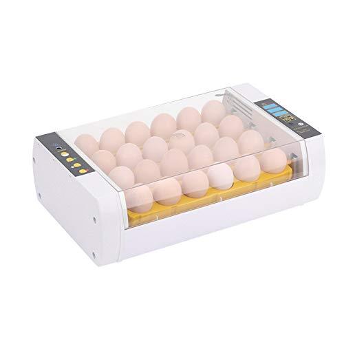 Lifcasual Incubador de huevos automático inteligente de 24 huevos, regulador de temperatura para el drenaje de patos de gallinas y aves de codorniz