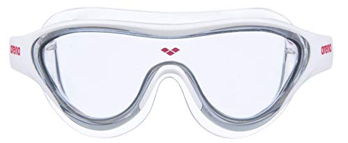 ARENA Unisex – Erwachsene Schwimmbrille The One Mask, Light Smoke-White-red, TU