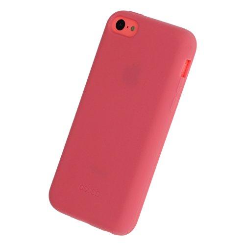 doupi PureColor Funda Compatible con iPhone 5C, Protectora de Ajuste sólido Cover de Silicona Goma Shell Cubierta Protectora, Rosa