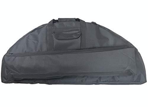 Silfrae Compound Bow Case Soft Bow Case Compound Bow Carry Bag with Arrow Pocket (Black, 95cm)