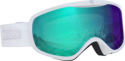 Salomon, Sense Photo, Damen-Skibrille, Weiß/All Weather Blue, L40518400