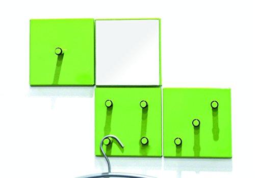 HAKU meubels 4-delige garderobeset 6 x 15 x H: 15 cm groen