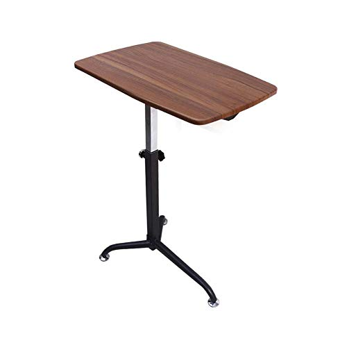 Draagbaar bureau, Mobiele Overbed Stoel Tafel Eettafel Laptop Bureau met Niveau 8 Verstelbare Hoogte