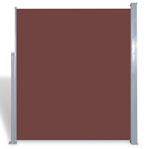 vidaXL Toldo Lateral Retráctil Poste Acero Marrón 160x300 cm Mampara Terraza