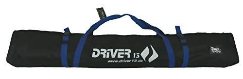 Driver13 ® Skitasche Skisack für Ski Skistoecke, Schitasche zum Aufbewahren und Transport beim Skifahren, Wasserfest 160 cm schwarz-blau