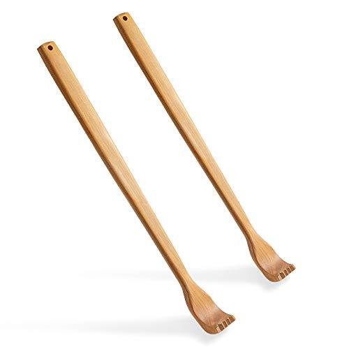 2 Stück Holz Rückenkratzer, Kratzhand Rückenkratzer, für Sofortige Linderung von Juckreiz Körper Entspannung, Back Scratcher with Long Handle