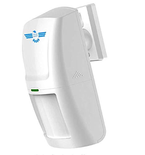 ITALIAN ALARM Sensore Movimento PIR Volumetrico Rilevatore antifurto allarme casa Wireless Senza Fili, compatibile con tutte le centrali ITALIAN ALARM e 433 Mhz. Batterie incluse