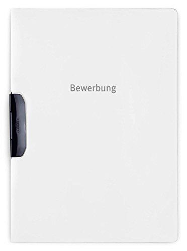 Durable 228902 Bewerbungsmappe Duraswing Job, bis 30 Blatt A4, weiß, 10er Packung