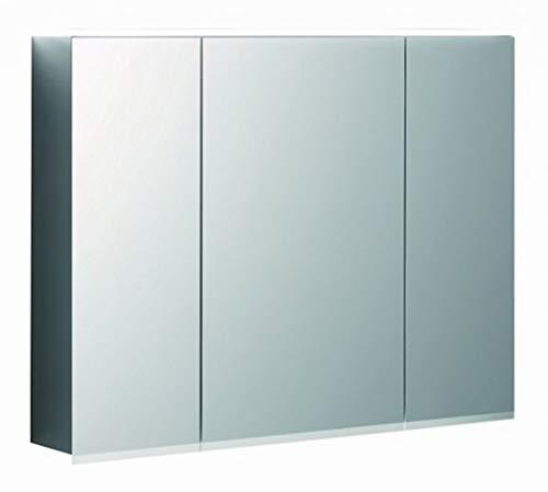 Keramag Geberit Option Plus Spiegelschrank mit Beleuchtung, DREI Türen, Breite 90 cm, 500594001-500.594.00.1