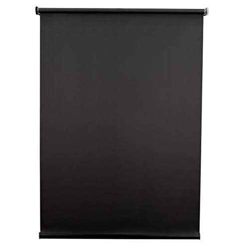 RecPro Black RV Roller Shades Blackout Window Cover for Camper and RV Blinds (38' W x 60' H)
