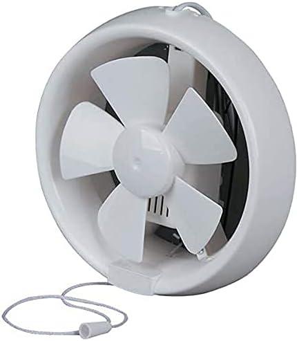 GAXQFEI Fans de Extractor de 10 Pulgadas de Baño Modelo de Ventilación Estándar para Inodoro, Baños, Aseo, Baño, Silencioso, Interruptor de Cordón, 8 en,8 en