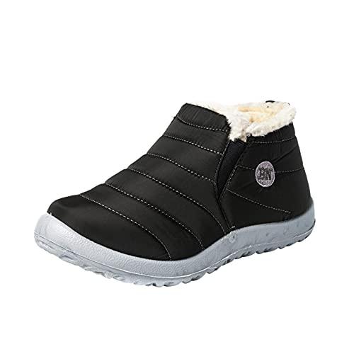 RTPR Botas planas de invierno para mujer, forradas, impermeables, antideslizantes, ligeras, cómodas, para invierno, para caminar, verde, 39 EU