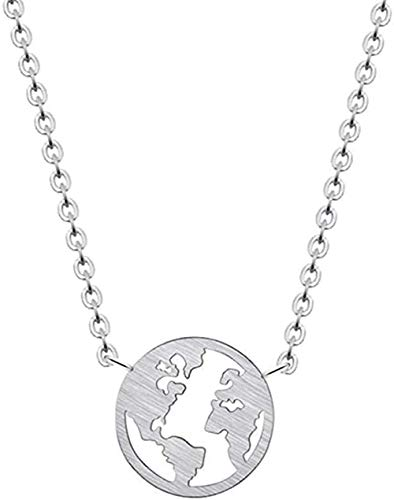 ZVBEP Necklace Stainless Steel Necklace for Women Boho Style Jewelry Gifts Valentine S Day