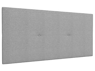 Estructura: Tablero de madera contrachapada Tapizados: Textil poliester y acolchado en microfibra Sistema de fijación: Herrajes para colgar con regulador de altura (incluido) Grosor: 4 cms Color: Gris claro