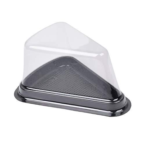 Wind Goal - Juego de 50 recipientes de plástico transparente para tartas de queso con triángulo de 6 pulgadas