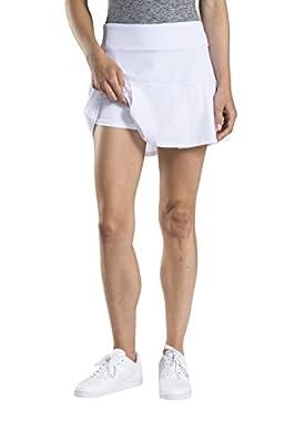 Etonic Women's Stretch Woven Tennis Skort, White, X-Small