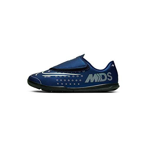 Nike JR Vapor 13 Club MDS IC PS (V), Botas de fútbol Unisex niño, Multicolor (Blue Void/Barely Volt/White/Black 401), 25 EU