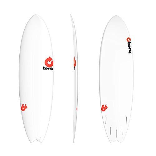 TORQ Tabla de surf epoxy TET Rental 6.6 MOD Fish
