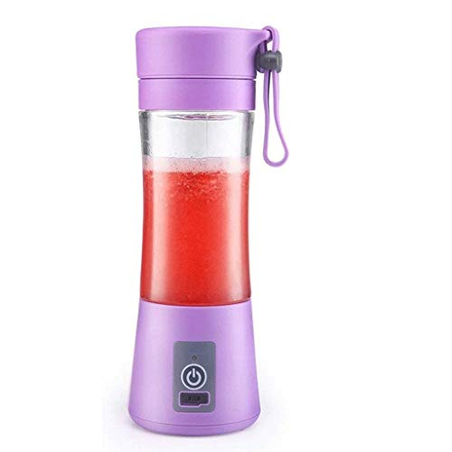 ECSWP Portable Juicer Cup Blender, Mini Juice Mixer with Updated,Baby Food Mixing Machine (Color : Purple)