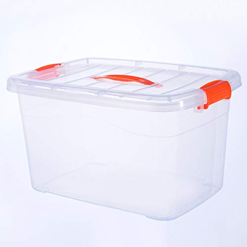 AQSG Boîte de Rangement, boîte à loquet, Plastique Transparent avec Couvercle