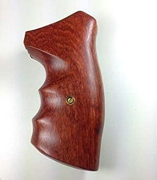 handicraftgrips New Ruger GP100 Super Redhawk Grips Smooth Hardwood Wood Finger Groove Handmade #GPW10