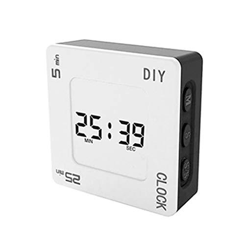 BIlinli Temporizador Pomodoro de gestión de Tiempo DIY, Reloj Despertador Cuadrado Creativo, recordatorio de Temporizador de luz de Fondo Intermitente para Estudiantes