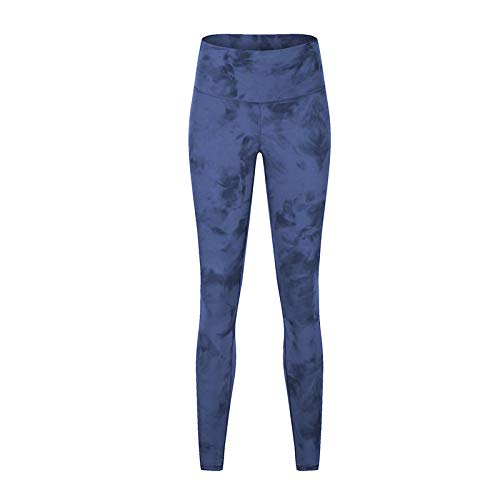 ShFhhwrl Mujer Leggins Printing Fitness Female Sports Leggings Push Up Running Pants Girls Yoga Pants High Waist Leggings Plus Size L Tiedyeblue