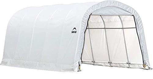 ShelterLogic Replacement Cover 12Wx20Lx8H Round Garage in a box 90603 805112 for model 62779 (21.5oz PVC White) -  90603 805112 62779 62780