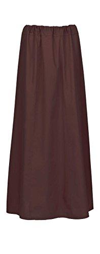 Maharanis Maharanis Fairtrade Sari Unterrock für indisches Wickelkleid 15 verschiedene Farben Einheitsgröße bis Gr. 44 dunkelbraun