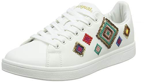 Desigual Shoes (Cosmic_Exotic Diamond), Scarpe da Ginnastica Basse Donna, Bianco (Blanco 1000), 40 EU