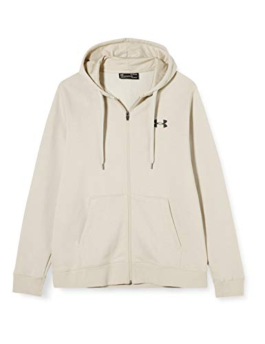 Under Armour Herren Rival Fitted Full Zip Oberteil, Grau, L