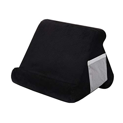 Kengsiren Multi-Angle Soft Pillow Lap Stand,Soft Pillow for Ipads,Phone Pillow Lap Stand Tablet Stand Pillow Holder,Used on Bed, Desk, Car, Sofa, Lap, Floor, Couch,Black