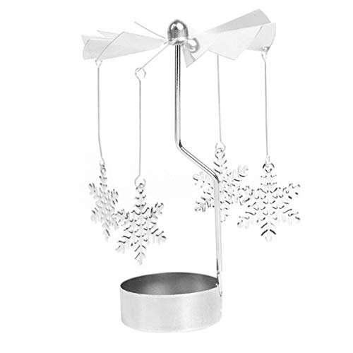 SMXGF 1PC Hot Spinning Rotary Metal Carousel waxinelichtje houder Stand Light Xmas Gift Candlestick Wedding Centerpieces Candelabra (Color : B)
