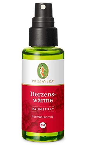 PRIMAVERA Raumspray Herzenswärme bio 50 ml - Rose, Vanille und Sandelholz - Aromadiffuser, Aromatherapie - harmonisierend - vegan