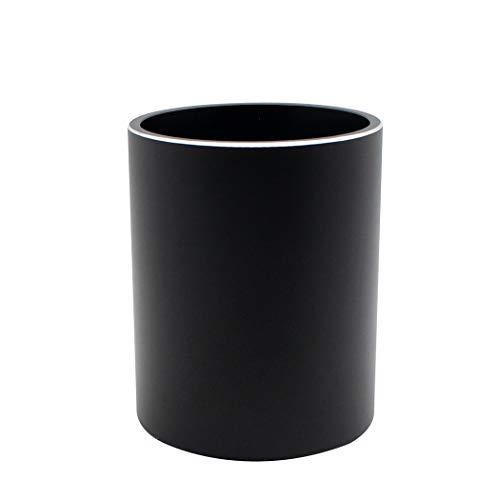 Zoohot Lega di alluminio portapenne accessori da scrivania e organizzatore di trucco - nero