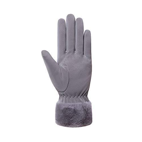 TTJQ Handschuhe Touchscreen Wasserdicht Leicht rutschfest Fahrradhandschuhe Elastisch Winterhandschuhe Liner-Handschuhe zum Camping Bergsteigen Radfahren Laufen Klettern (Grau A)