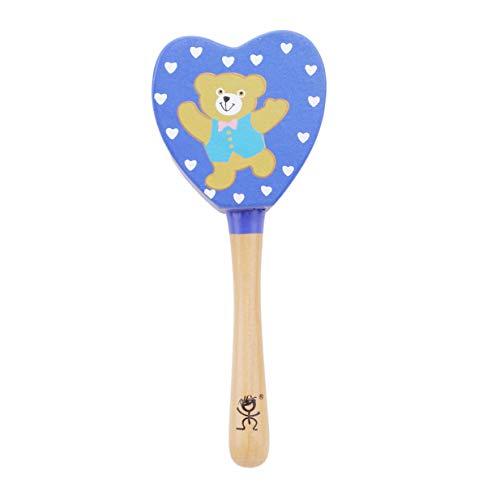 EJY Bébé Hochets Jouet Intelligence Saisissant Jeux Main Bell Éducatifs Jouet Enfants d'anniversaire Cadeaux(Bleu foncé en Forme de Coeur)