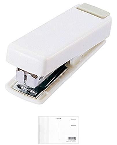 リヒトラブ ステープラー コンパクト ホッチキス M20-0 白 【 × 3 個 】 + 画材屋ドットコム ポストカードA