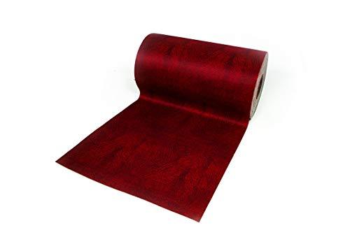 BIANCHERIAWEB Tappeto Passatoia Antiscivolo con Stampa Digitale Dis. Screziato Colore Bordeaux 50x600 Bordeaux