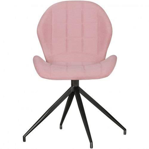 Wohnling Vintage Diseño Comedor Sillas Yuri, 360° Giratorio Rojo Acolchado, Acolchado sillas con Respaldo y Patas Metal, Doble Pack Cocina Sillas, Juego de 2