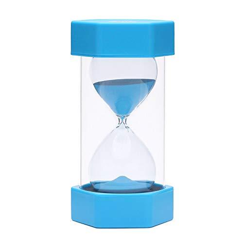 EQLEF Sablier 15 Minutes, Sabliers Minuterie Horloge de Sable Hourglass pour Enfants Jeux Cuisine Exercice Minuterie de Cuisine Sablier pour Décor de Bureau Domicile, Bleu, 15 Min