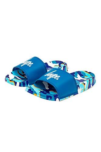 Hype Blueline Camo Kids Sliders, color Azul, talla 36 EU