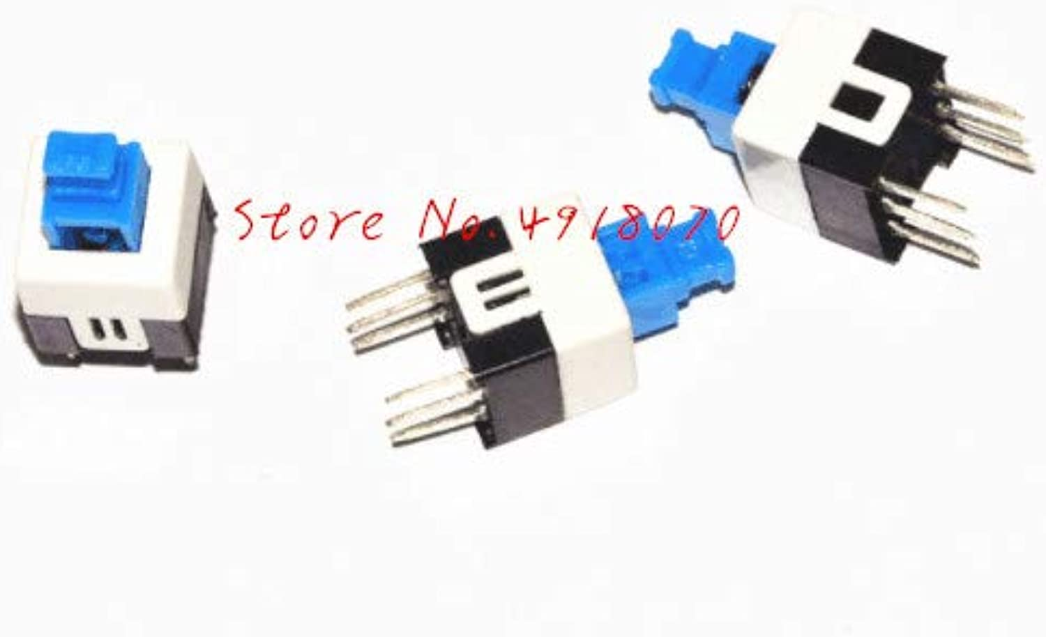 500PCS 7  7MM 6Pin SelfLocking Push Button, self Locking Switch, ON Off ROHS