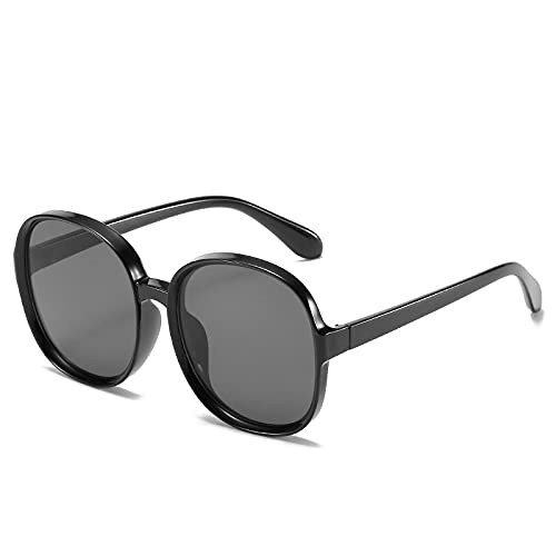 FJCY Gafas de Color Degradado Gafas de Sol con Montura Grande Gafas de Sol Unisex de Color Redondo para Hombres y Mujeres Uv400-6-Wm2118-C1