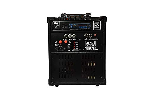 MEDHA D.J. PLUS Portable Rechargeable PA Amplifier Cube-28 With Speaker & Digital Media Player