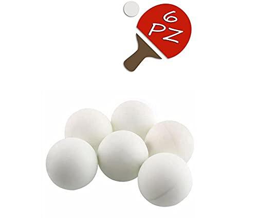 Vetrineinrete Palline da Ping Pong 6 Pezzi Palle per Tennis da Tavolo Bianche Pallina in ABS per Giocare allenamenti Sport per Principianti ed esperti C18