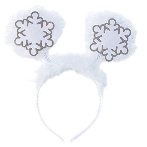 Hothap volwassenen kinderen Kerstmis glitter pailletten hoofdband cartoon kerstman hoed rendier gewei sneeuwvlok bonte haren hoop party rekwisieten (eerste foto) Wie gezeigt F