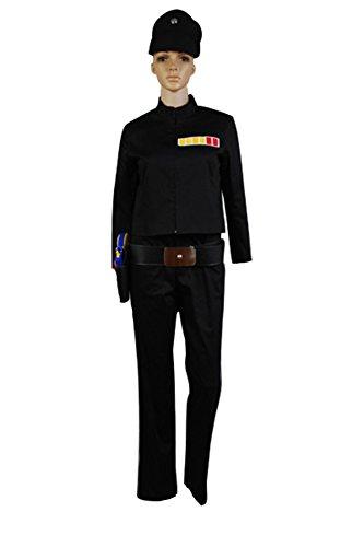 Bilicos Estrella Uniforme de Oficial Imperial Traje de Cosplay Disfraz Negro Mujeres Damas XL