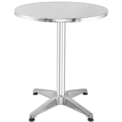 Bar Table, Metal Pub Table with Round Tabletop-KINTTO